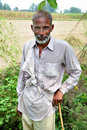 Old indian farmer Stock Photo