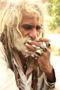 Old Indian male, with dreadlock hair Stock Photos