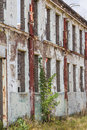 Old industrial wall with windows Royalty Free Stock Photo