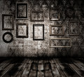 Old interior wooden frames Royalty Free Stock Photo