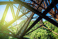 Old iron bridge Royalty Free Stock Photo