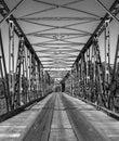 Old iron bridge in southern Brazil Royalty Free Stock Photo