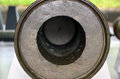 Old iron cannon front view detail photography Royalty Free Stock Photo