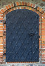 Old iron door Stock Photo
