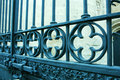 Old iron fence on a natural background close up Royalty Free Stock Images