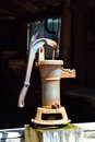 An old Iron Hand Pump Royalty Free Stock Photo