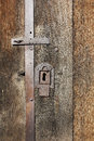 Old iron lock Royalty Free Stock Images