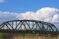 Old iron railway bridge Royalty Free Stock Photo