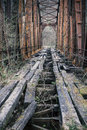 Old iron railway bridge Royalty Free Stock Photo