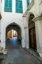 Old islamic architecture narrow lanes of an town in muscat oman town of oman Royalty Free Stock Photos