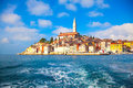 Old istrian town in porec sity croatia Royalty Free Stock Photos