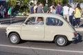 Old italian car. Vintage transportation. Fiat 500 Royalty Free Stock Photo