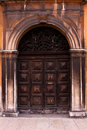 Old Italian door. Royalty Free Stock Images