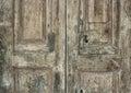 Old italian door very wooden in decay sassi basilicata italy Stock Photography