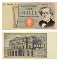 Old Italian Money Stock Image