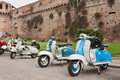 Old italian scooters Royalty Free Stock Images