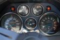 Old italian sports car gauges Royalty Free Stock Photo