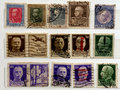 Old italian Stamps Royalty Free Stock Images