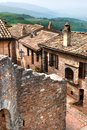 Old italian stone village umbria beautiful view of a typical of italy Royalty Free Stock Images