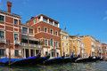 The old Italian town of Venice Stock Images