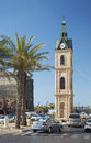 Old jaffa clocktower in tel aviv israel town Stock Images