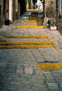 Old jaffa pedestrian path steps Stock Photos