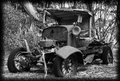 Old jalopy car image photographed on kangaroo island south australia Stock Photo