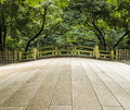 Old Japanese bridge Royalty Free Stock Photo