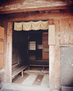 Old japanese house entrance to Royalty Free Stock Photography