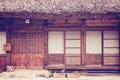 Old japanese house front of Stock Image