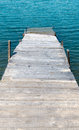 Old jetties wooden jetty in disrepair Stock Photography