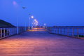 Jetty promenade summer night blur Royalty Free Stock Photo