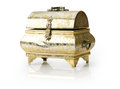 Old jewelery box isolated on a white background Stock Photography