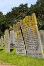 Old Jewish graves Stock Image