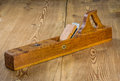 Old jointer plane wooden board Royalty Free Stock Photos