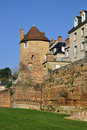 Old keep at Le Mans in France Stock Photos