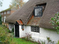Old kent thatched cottage Royalty Free Stock Images