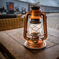 Old kerosene lantern Royalty Free Stock Photo