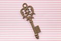 Old key on vintage background Stock Image