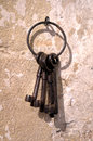 Old keys close up on and rusty Royalty Free Stock Photos