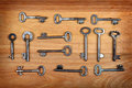 Old Keys Set Royalty Free Stock Photo