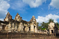 Old Khmer art sanctuary Stock Image