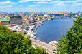 The old Kiev city - the capital of Ukraine and the Dnieper