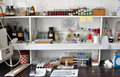 Old laboratory school chemistry general view Royalty Free Stock Photos
