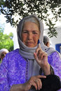 Old lady who voted in Tunisia first free elections Royalty Free Stock Images