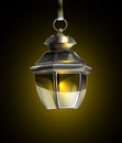 Old lamp on a black background vector Stock Image