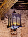 Old lamp in the castle Stock Images