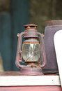 Old lamp, Hurricane lamp Stock Photo