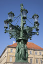 Old lamppost design prague by vesely czech republic europe Royalty Free Stock Image