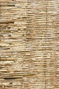 Old lath and plaster broken bamboo wall in rural thailand Royalty Free Stock Photography